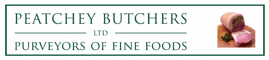 Peatchey Butchers Ltd. Purveyors of Fine Foods.